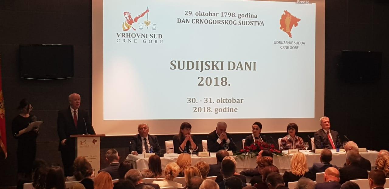 Me ftesë të Kryetares së Gjykatës së Lartë të Malit të Zi Znj. Vesna Medenica, Kryetari i Gjykatës së Lartë, Z. Xhezair Zaganjori, mori pjesë në aktivitetet me rastin e organizimit të Ditës së Drejtësisë dhe Konferencës Gjyqësore së Malit të Zi