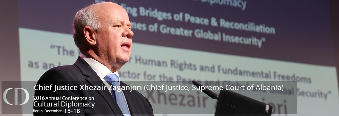 Kryetari i Gjykatës së Lartë Z. Xhezair Zaganjori ka marrë pjesë në Konferencën Vjetore për Diplomaci Kulturore, zhvilluar në Berlin (Gjermani) në datat 15-18 dhjetor 2016, organizuar nga ICD (Instituti për Diplomaci Kulturore)