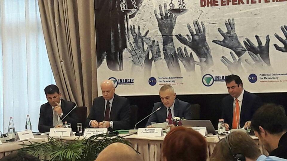 """Kryetari i Gjykatës së Lartë Z. Xhezair Zaganjori mori pjesë Konferencën Kombëtare me titull: """"Efikasiteti i procedurave gjyqësore në Gjykatat Administrative të Shqipërisë dhe vlerësimi i efekteve të Reformës në Drejtësi"""""""