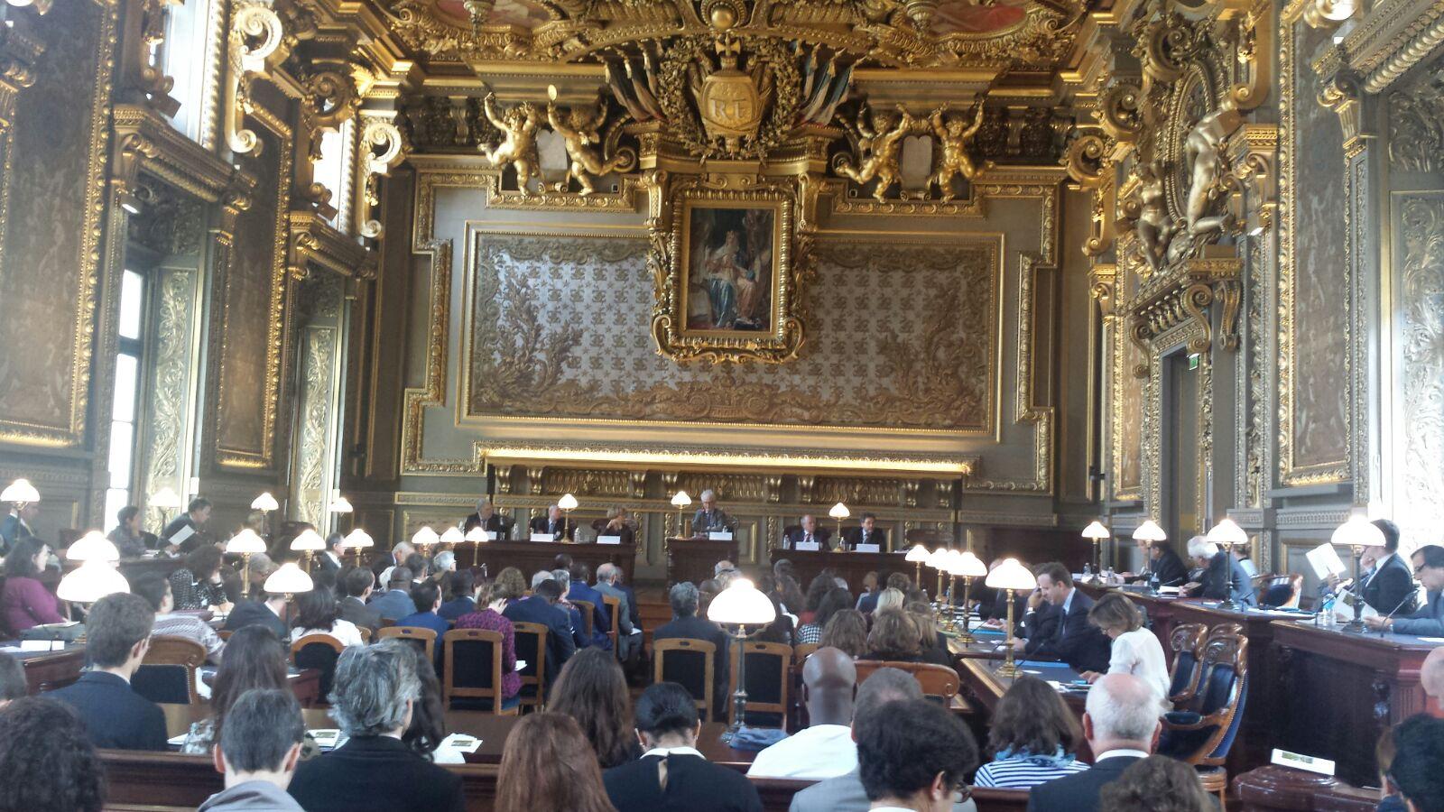 """Kryetari i Gjykatës së Lartë Z. Xhezair Zaganjori mori pjesë në Konferencën Ndërkombëtare me temë """"70 vjet pas Nyrenbergut – Gjykimi i Krimeve kundër Njerëzimit"""", organizuar në Paris, Francë"""