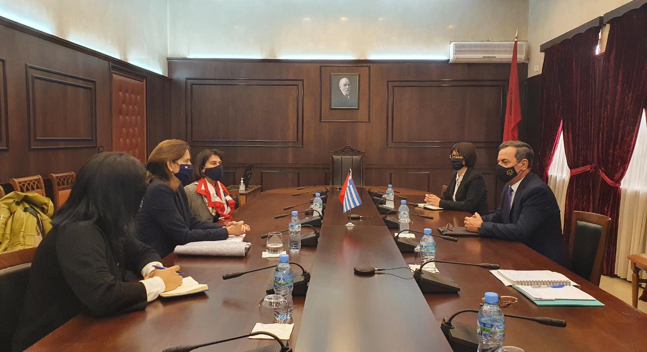 Zëvendës Kryetari i Gjykatës së Lartë Z. Sokol Sadushi ka pritur të premten, 05.02.2021, në një takim kortezie në Gjykatën e Lartë, Ambasadoren e Greqisë në Tiranë SH.S. Znj. Sophia Philippidou.